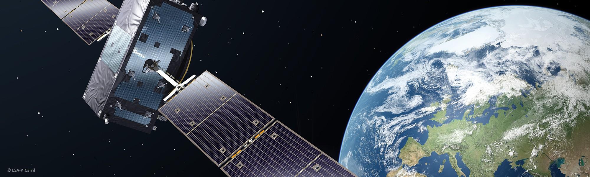 Galileo Satellite in Orbit